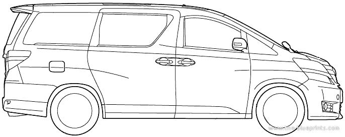Blueprints > Cars > Toyota > Toyota Vellfire (2012)