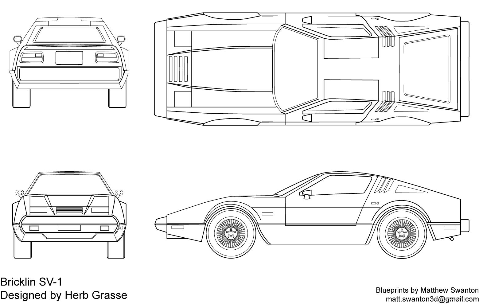 Blueprints > Cars > Various Cars > Bricklin SV-1