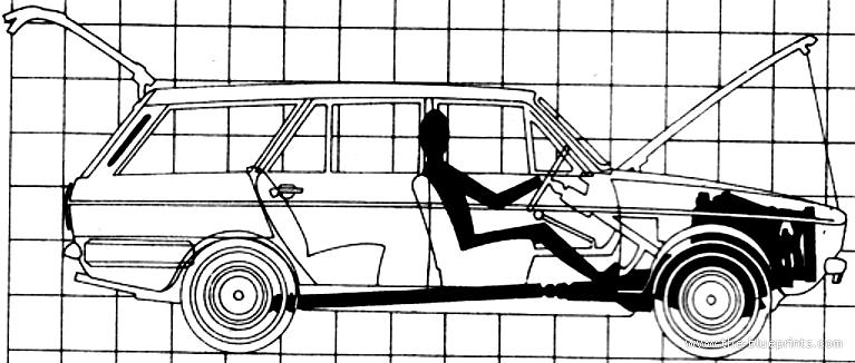 Blueprints > Cars > Various Cars > Hillman Minx Estate (1969)