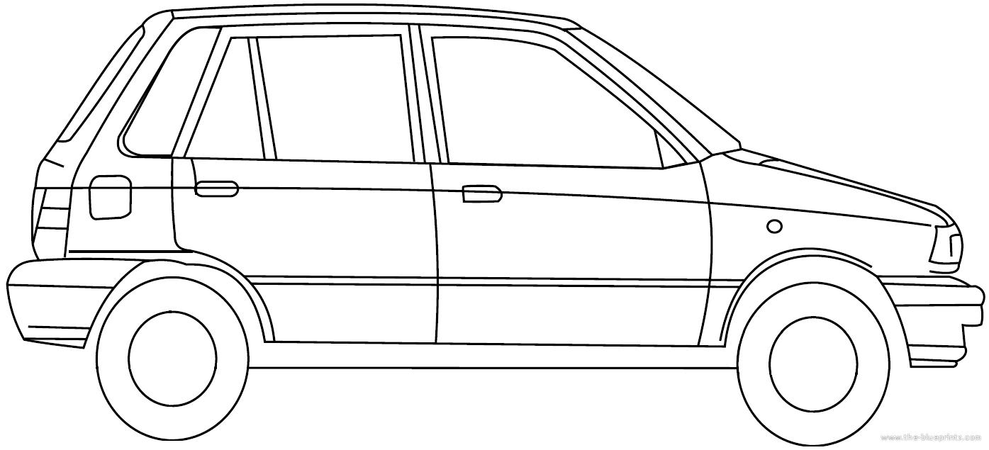 Blueprints > Cars > Various Cars > Maruti Suzuki 800 (2012)