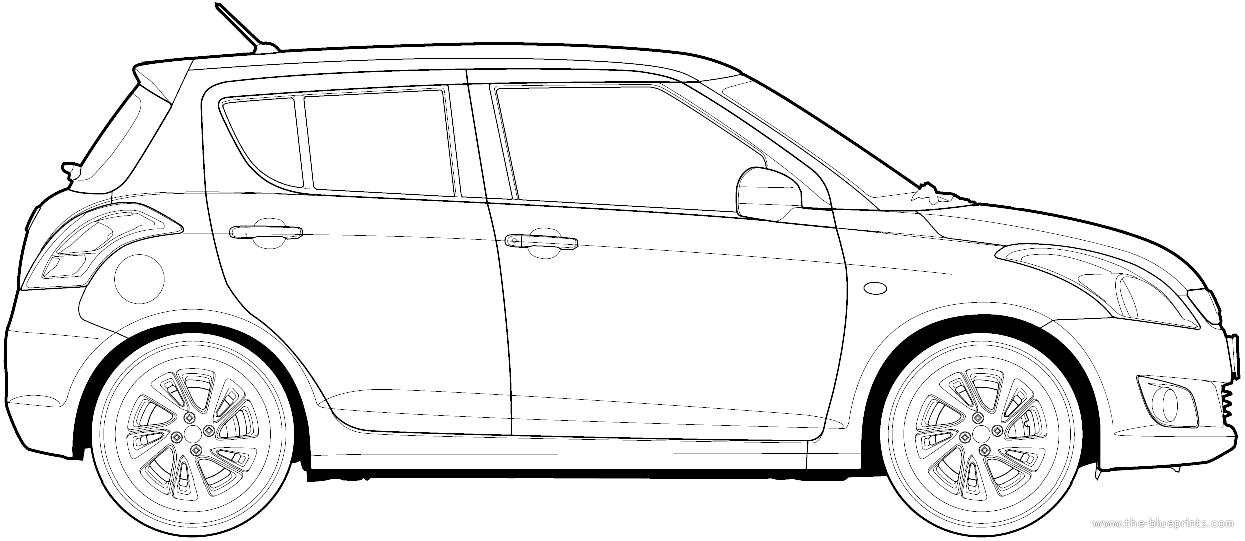 Blueprints > Cars > Various Cars > Maruti Swift (2013)