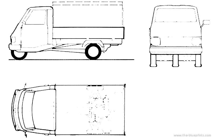 Blueprints > Cars > Various Cars > Piaggio Ape Car (1984)