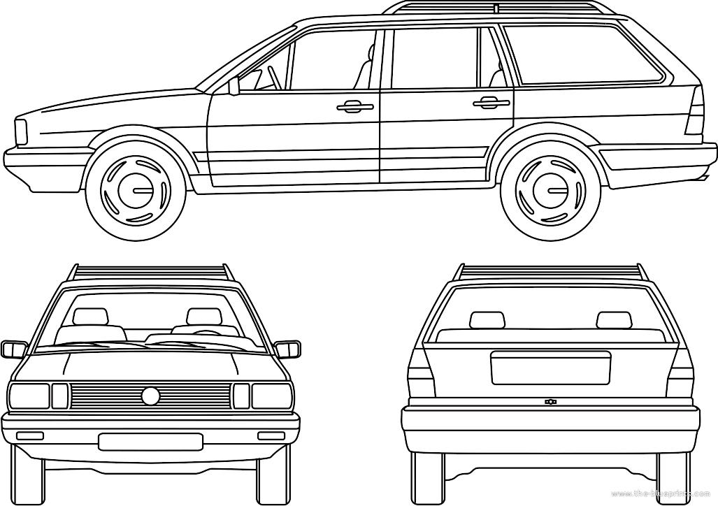 Blueprints > Cars > Various Cars > Santana Quantum GLS