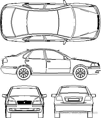 Blueprints > Cars > Volvo > Volvo S40 (1998)