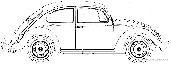 Blueprints > Cars > Volkswagen > Volkswagen Beetle 1300 (1966)