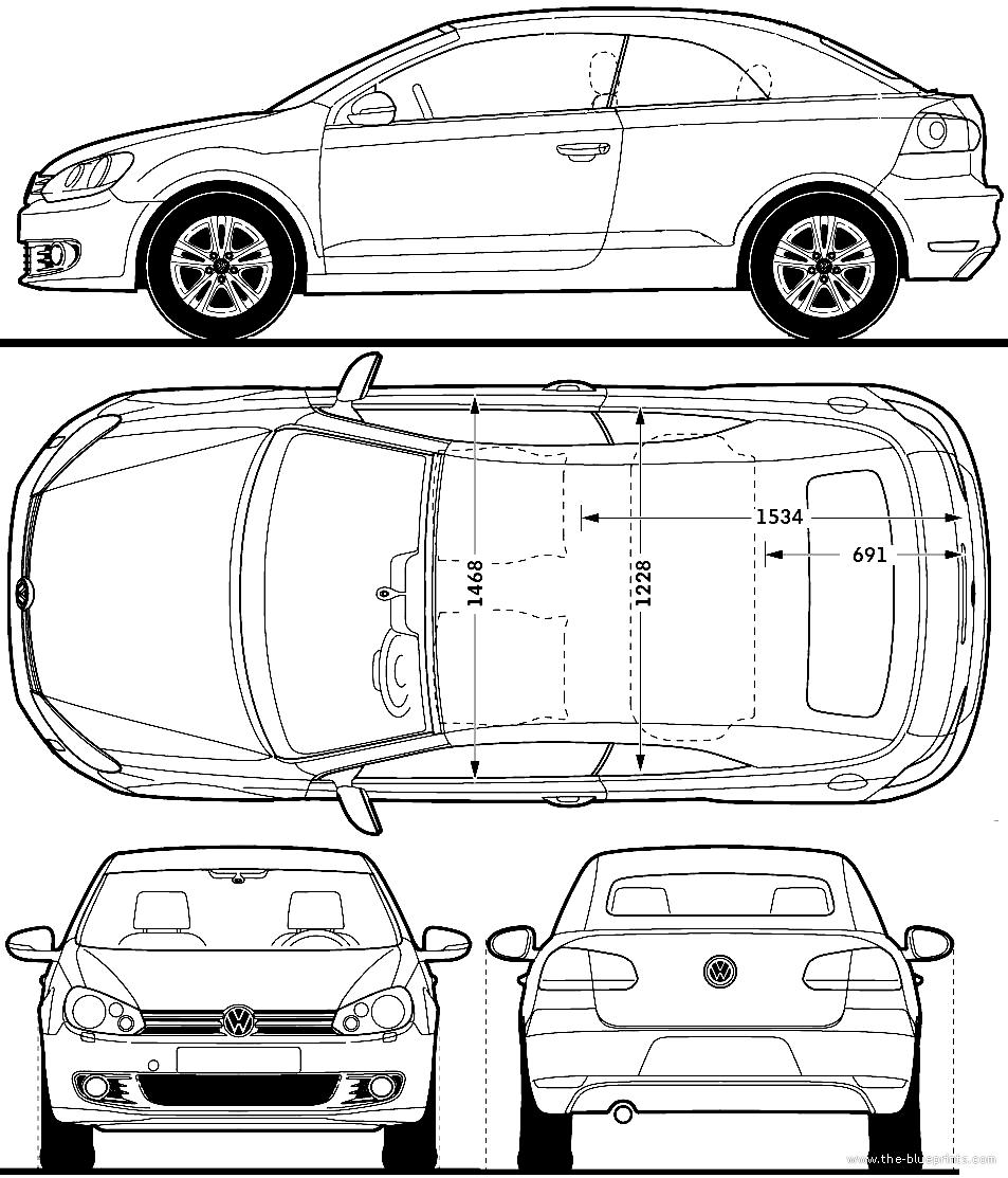 Blueprints > Cars > Volkswagen > Volkswagen Golf Cabriolet