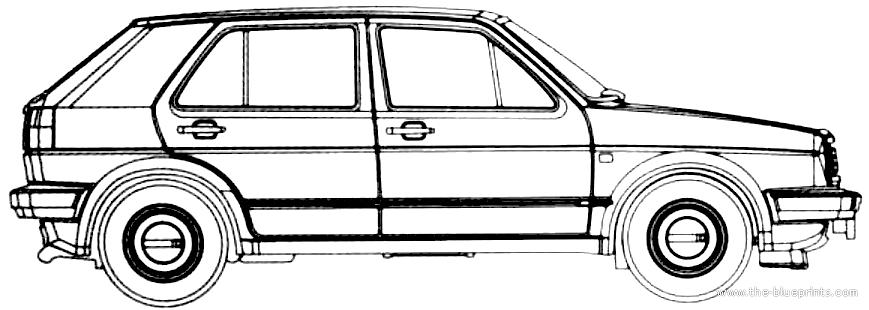 Blueprints > Cars > Volkswagen > Volkswagen Golf II GL 5