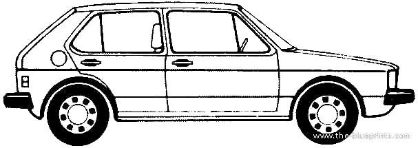 Blueprints > Cars > Volkswagen > Volkswagen Golf Mk.I 5
