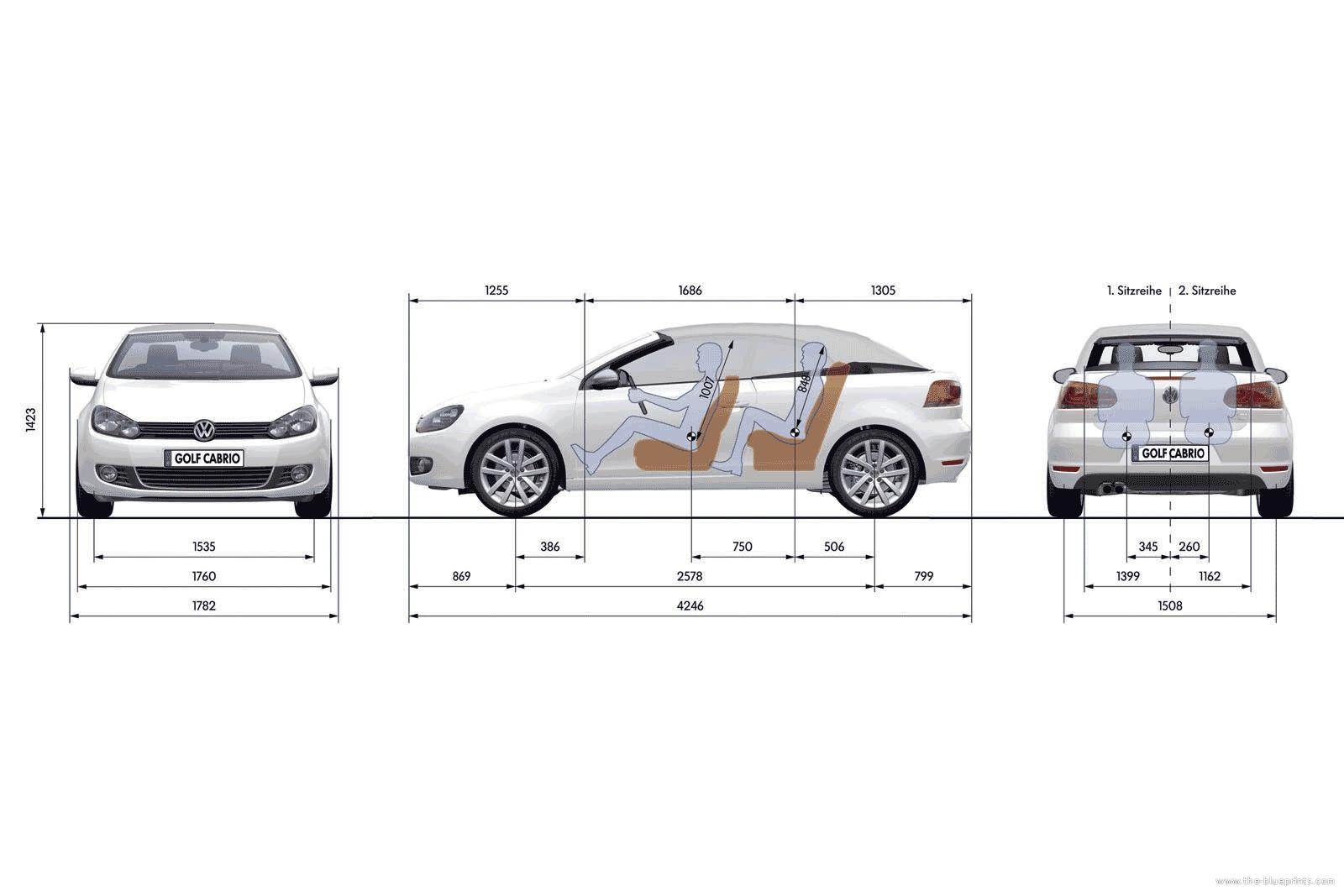 Blueprints > Cars > Volkswagen > Volkswagen Golf VI Cabrio