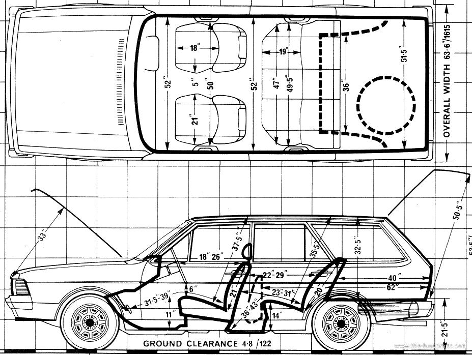 Blueprints > Cars > Volkswagen > Volkswagen Passat Mk.I 1
