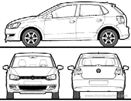 Blueprints > Cars > Volkswagen > Volkswagen Polo (2009)