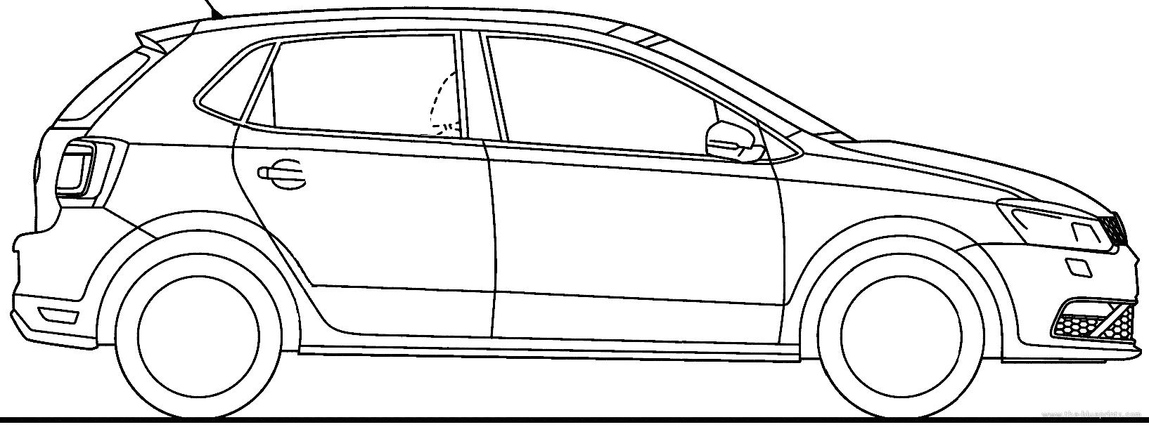 Blueprints > Cars > Volkswagen > Volkswagen Polo 5-Door