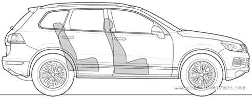 Blueprints > Cars > Volkswagen > Volkswagen Touareg (2012)