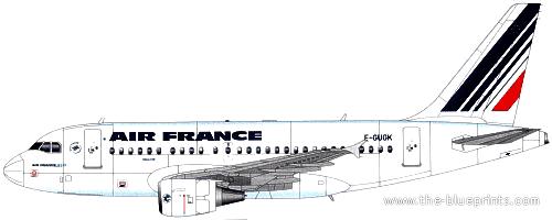 Blueprints > Modern airplanes > Airbus > Airbus A318
