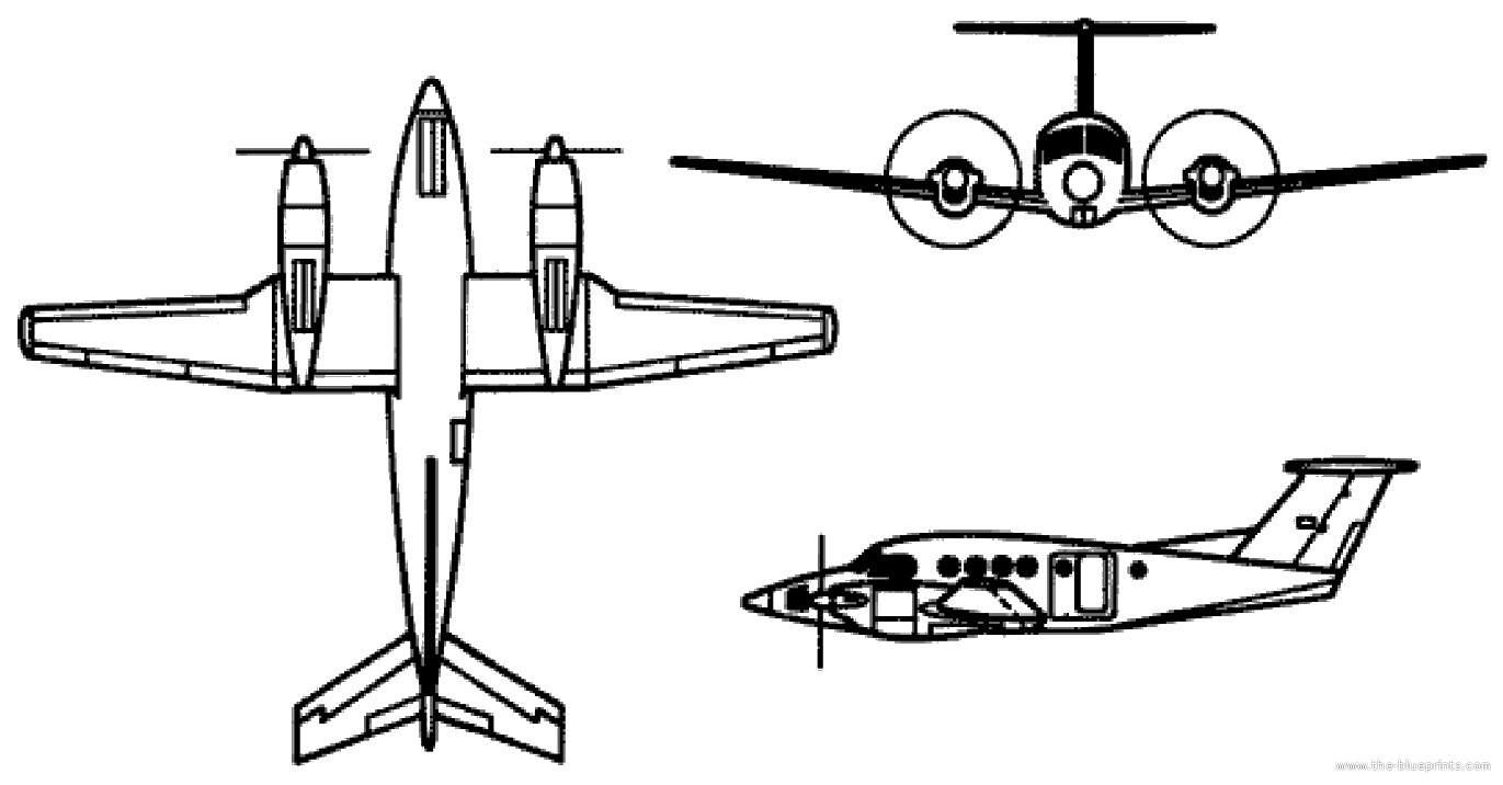 Blueprints > Modern airplanes > Beechcraft > Beechcraft C