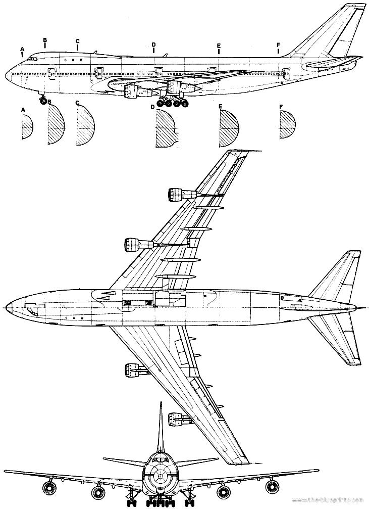 Blueprints > Modern airplanes > Boeing > Boeing 747