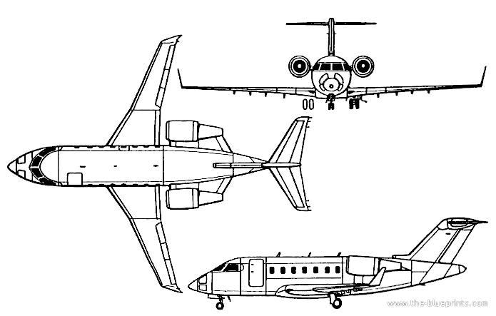 Blueprints > Modern airplanes > Bombardier > Bombardier