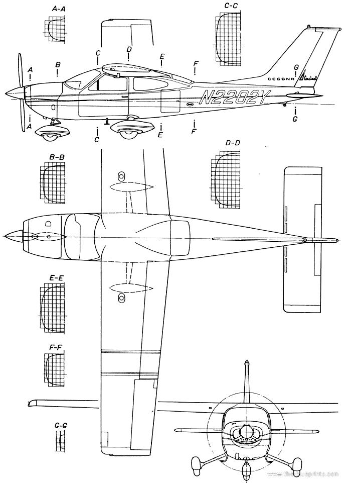 Blueprints > Modern airplanes > Cessna > Cessna 177 Cardinal