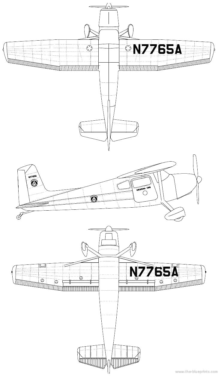 Blueprints > Modern airplanes > Cessna > Cessna 180