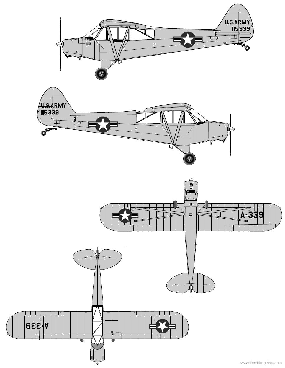 Blueprints > Modern airplanes > Piper > Piper PA-18A Super Cub