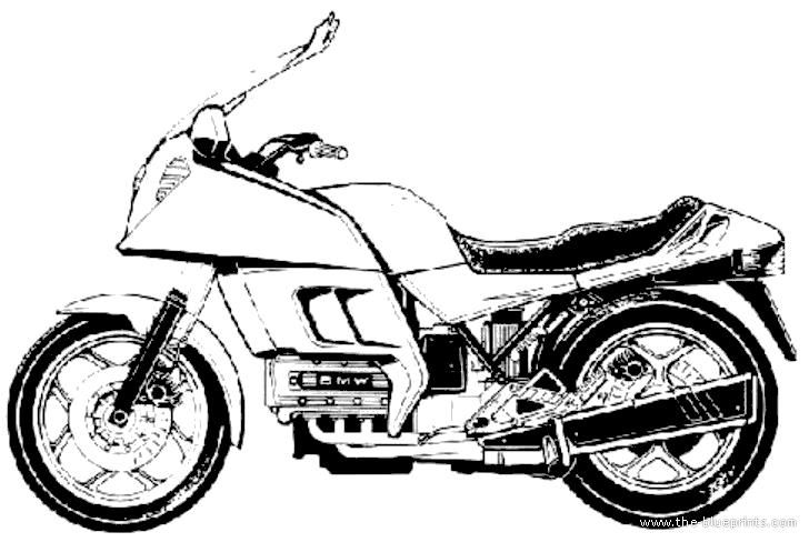 Blueprints > Motorcycles > BMW > BMW K100RT (1983)