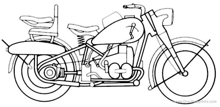 Blueprints > Motorcycles > BMW > BMW R75 (1941)