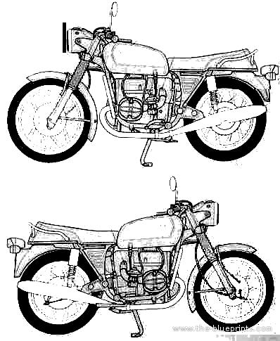 Blueprints > Motorcycles > BMW > BMW R75