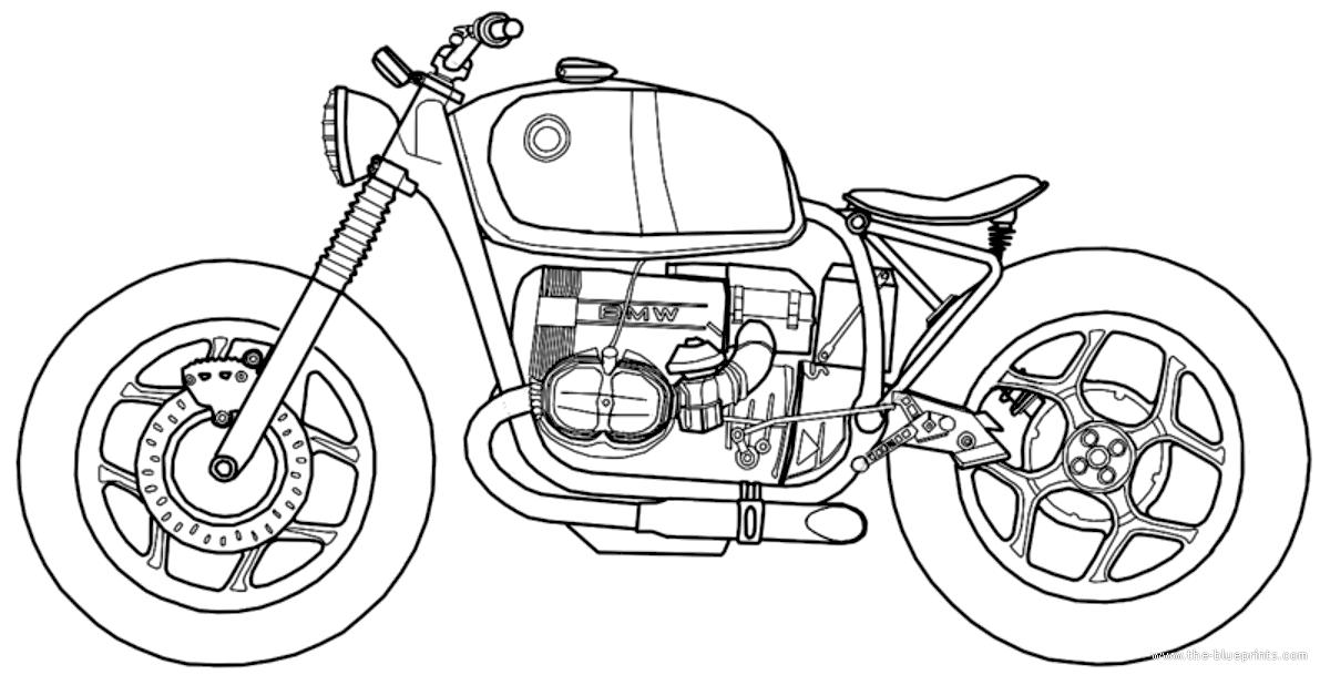 Blueprints > Motorcycles > BMW > BMW R80 RT (1986)