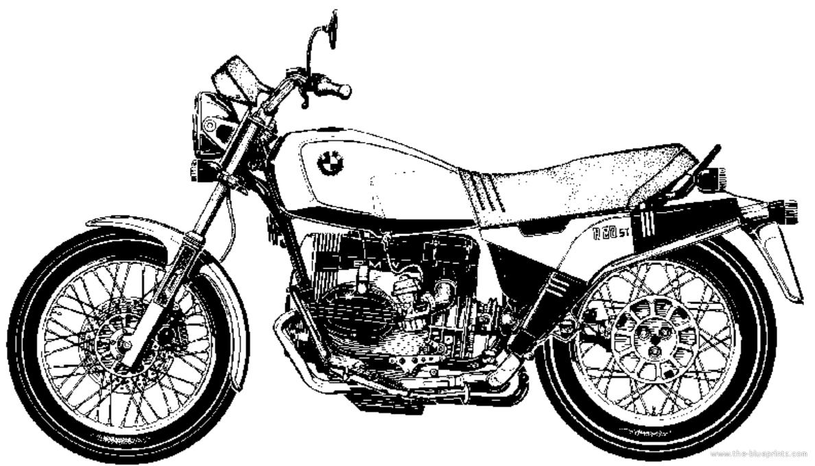 Blueprints > Motorcycles > BMW > BMW R80 ST (1983)