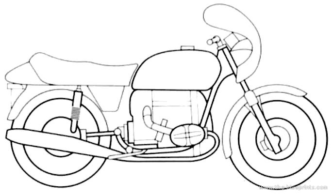 Blueprints > Motorcycles > BMW > BMW R90 S (1973)