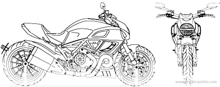 Blueprints > Motorcycles > Ducati > Ducati Diavel (2013)