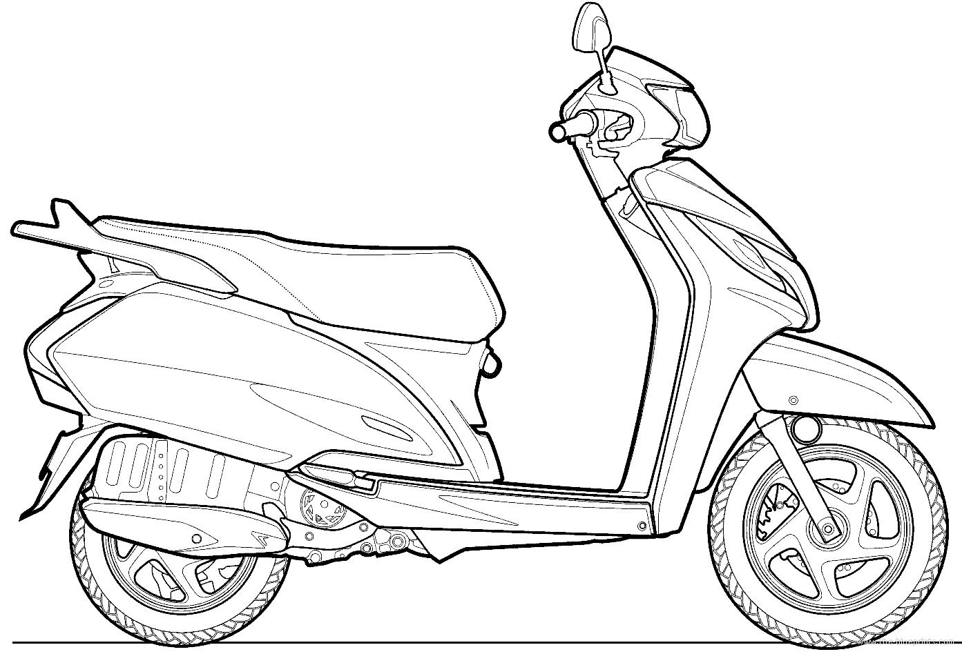 Blueprints > Motorcycles > Honda > Honda Activa 125 (2014)
