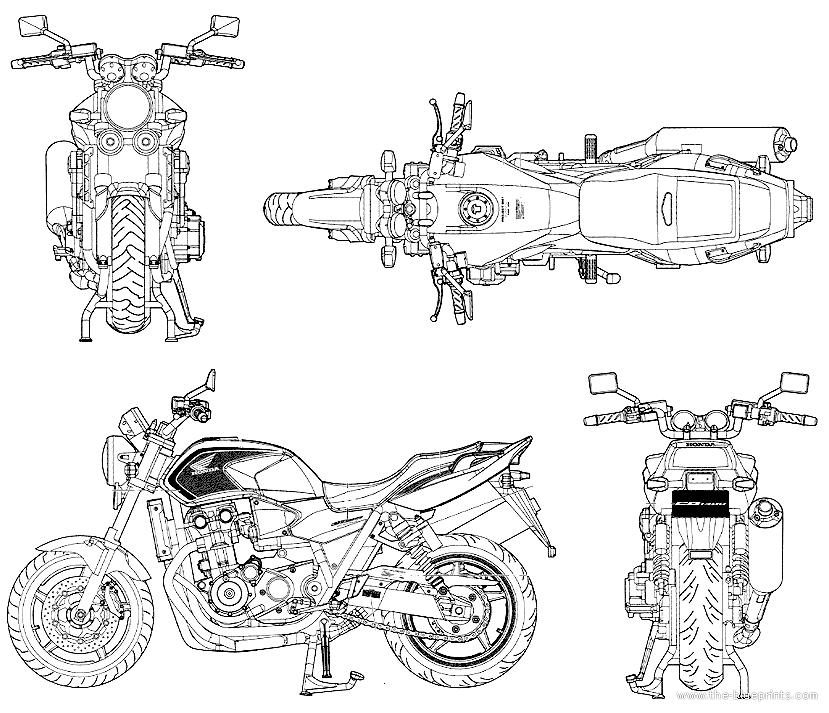 Blueprints > Motorcycles > Honda > Honda CB1300 Super Four