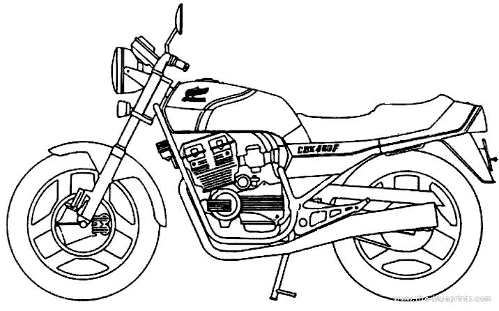 Blueprints > Motorcycles > Honda > Honda CB400F (1981)