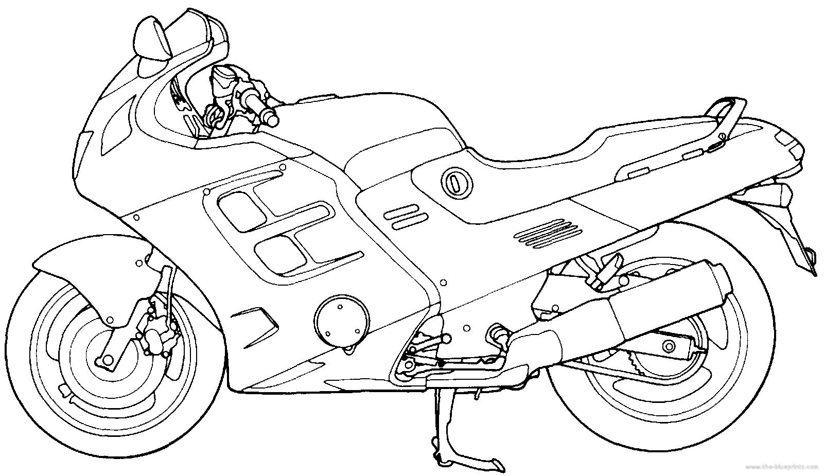 Blueprints > Motorcycles > Honda > Honda CBR 1000F (1989)