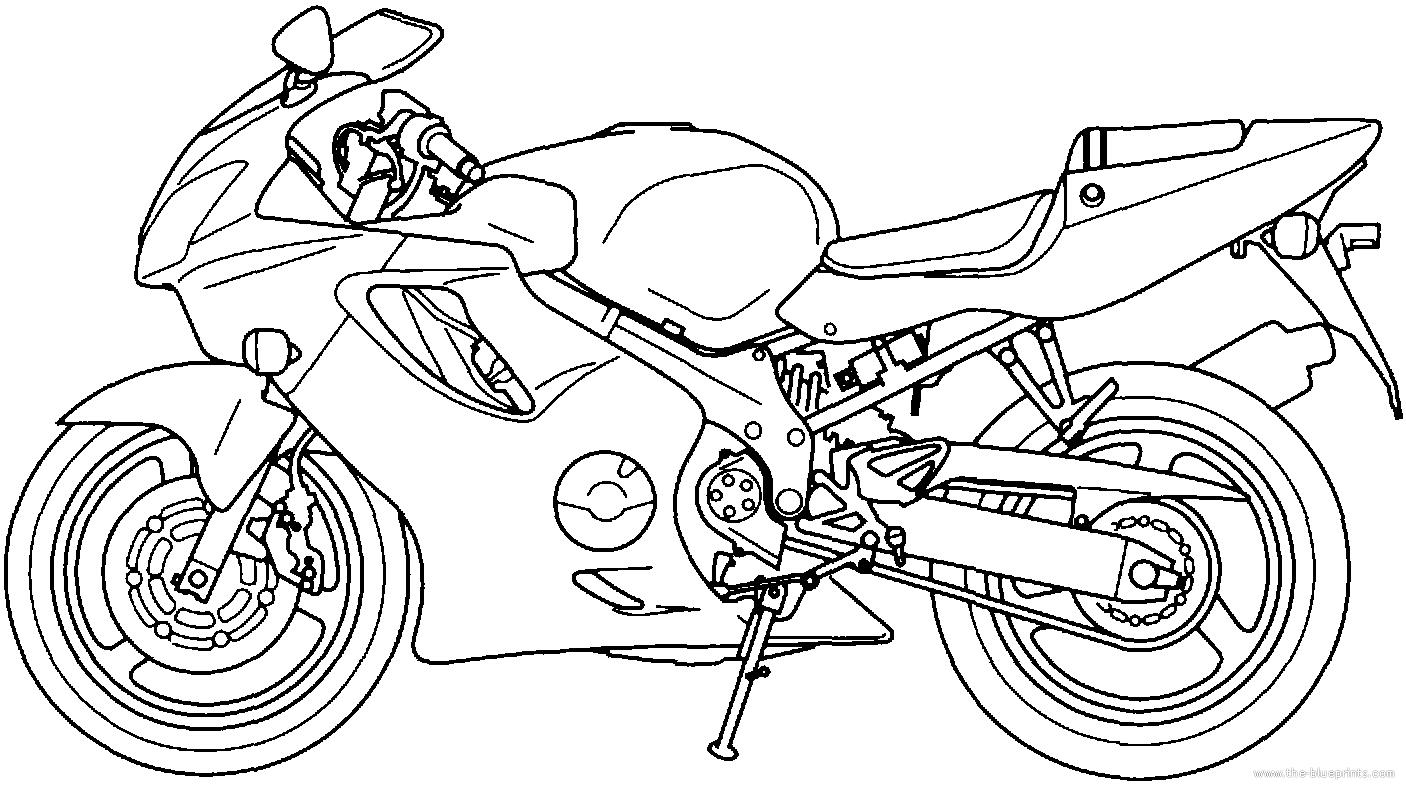 Blueprints > Motorcycles > Honda > Honda CBR 600F4i (2001)