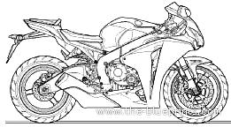 Blueprints > Motorcycles > Honda > Honda CBR1000RR (2009)