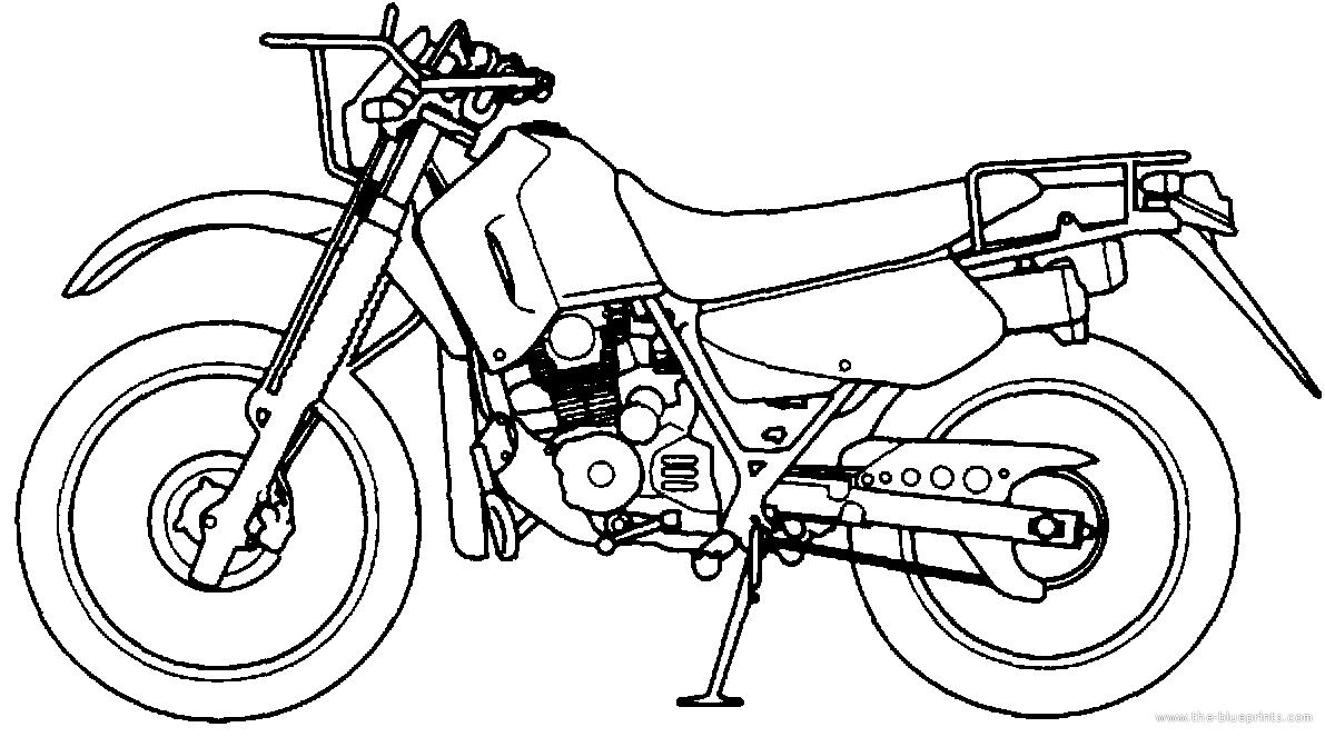 Blueprints > Motorcycles > Honda > Honda CTX 200 (2002)