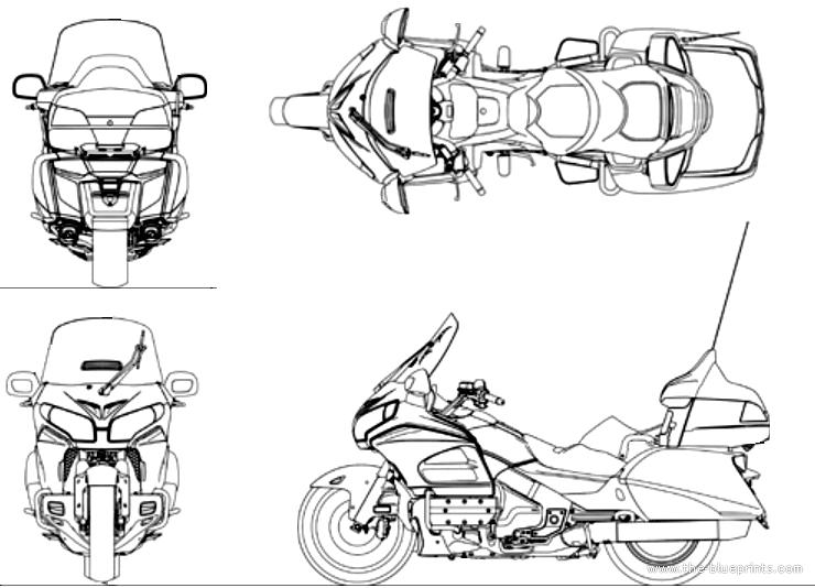 Blueprints > Motorcycles > Honda > Honda Goldwing (2014)