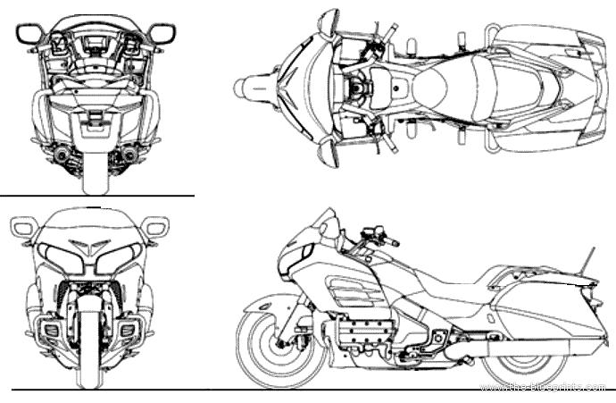 Blueprints > Motorcycles > Honda > Honda Goldwing F6B (2014)