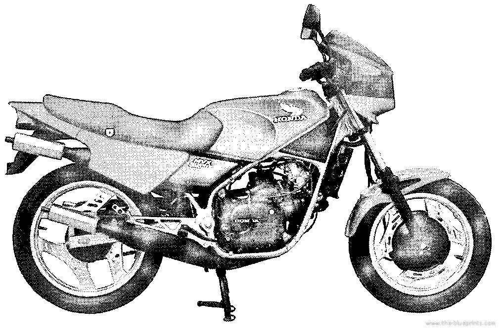 Blueprints > Motorcycles > Honda > Honda MVX 250F (1983)