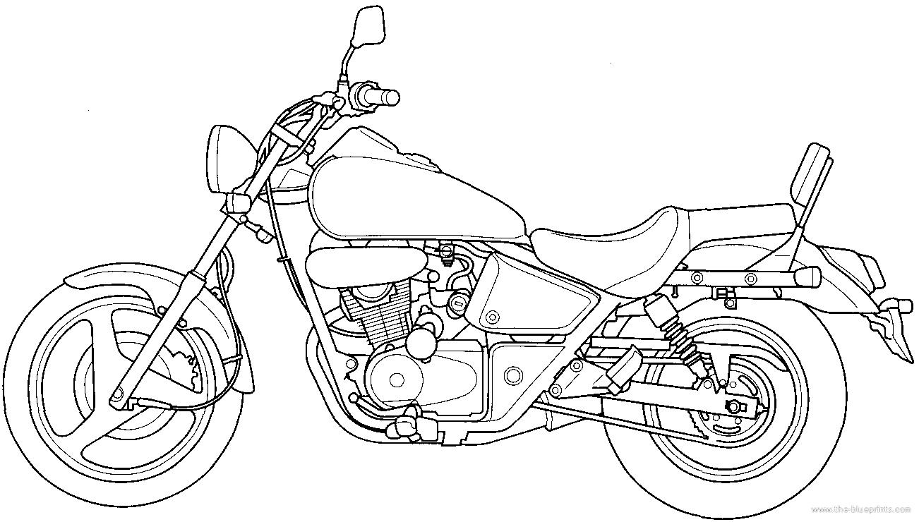 Blueprints > Motorcycles > Honda > Honda Shadow TA200