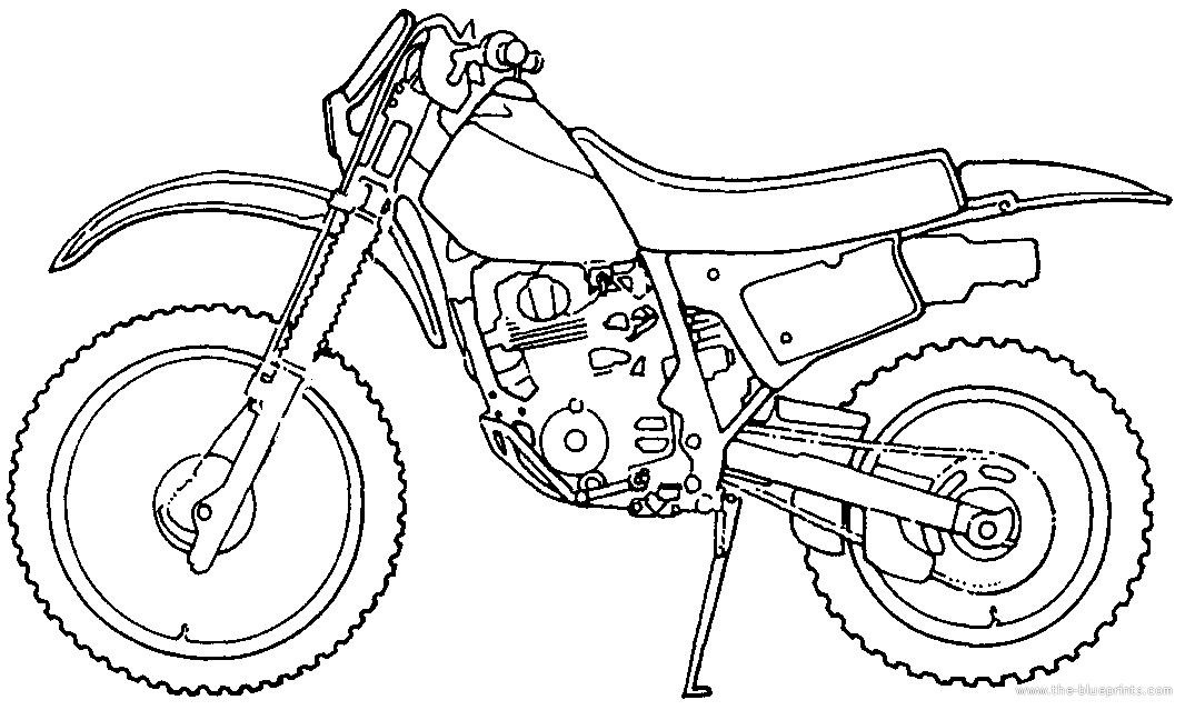 Blueprints > Motorcycles > Honda > Honda XR 200R (1989)