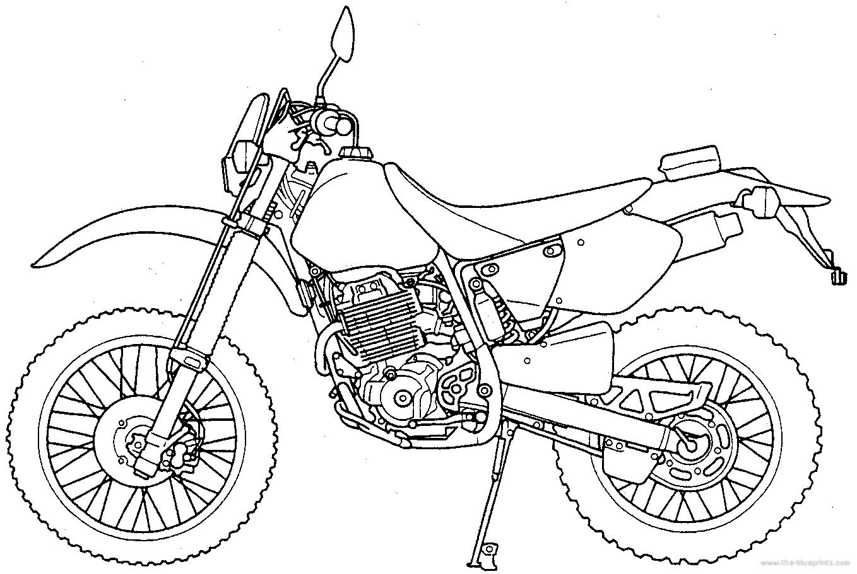 Blueprints > Motorcycles > Honda > Honda XR 400R (2001)