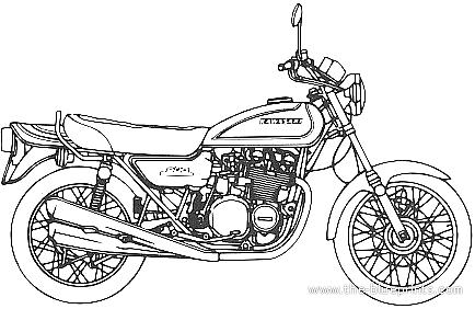 Blueprints > Motorcycles > Kawasaki > Kawasaki 900 Super 4