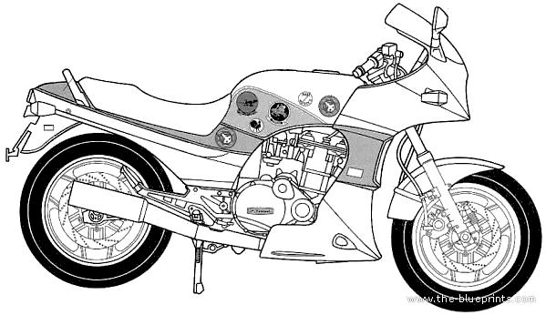 Blueprints > Motorcycles > Kawasaki > Kawasaki GPZ900