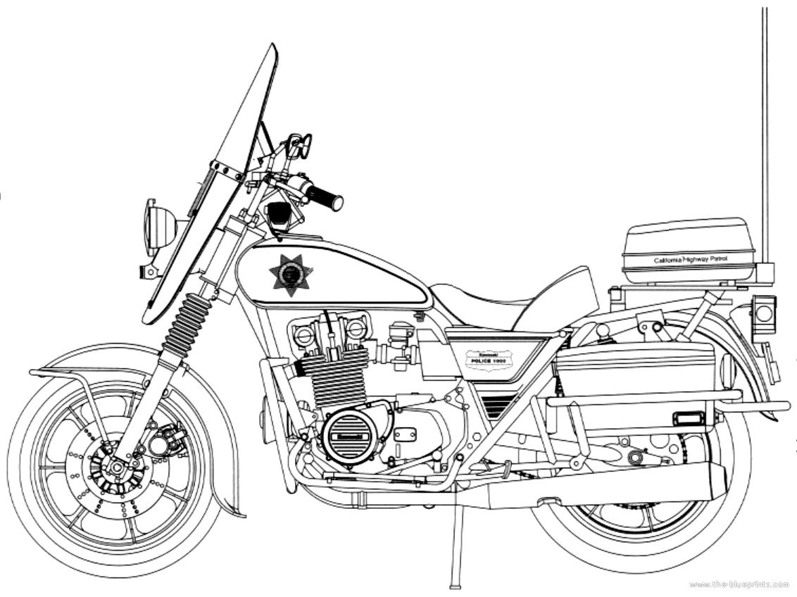 Blueprints > Motorcycles > Kawasaki > Kawasaki KZ1000C1