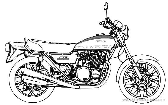 Blueprints > Motorcycles > Kawasaki > Kawasaki Z1 900 Super 4