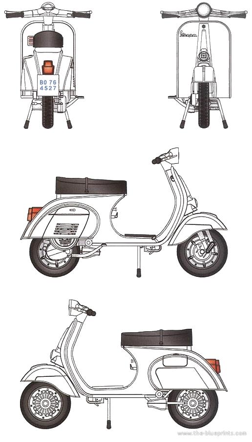Blueprints > Motorcycles > Piaggio > Piaggio Vespa 125