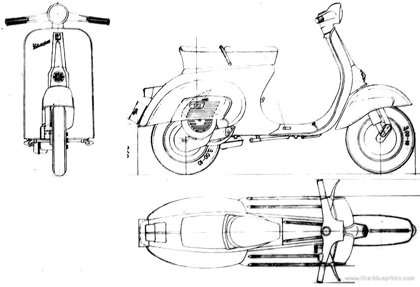 Blueprints > Motorcycles > Piaggio > Piaggio Vespa 50N